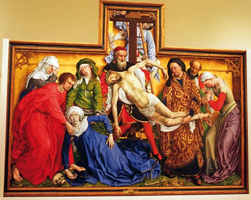 """Museo del Prado. Escuela Flamenca siglo XV. Roger van der Weyden (Tournai ca. 1400- Bruselas, 1464): """"Descendimiento de"""