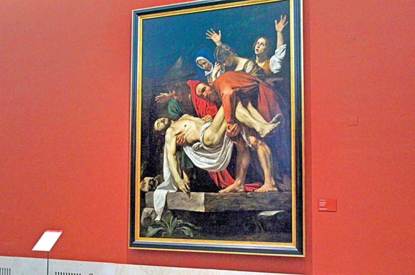 """""""Entierro de Cristo  o El Descendimiento"""" (1602-1604), obra de Caravaggio. Museos Vaticanos. Foto: EFE"""