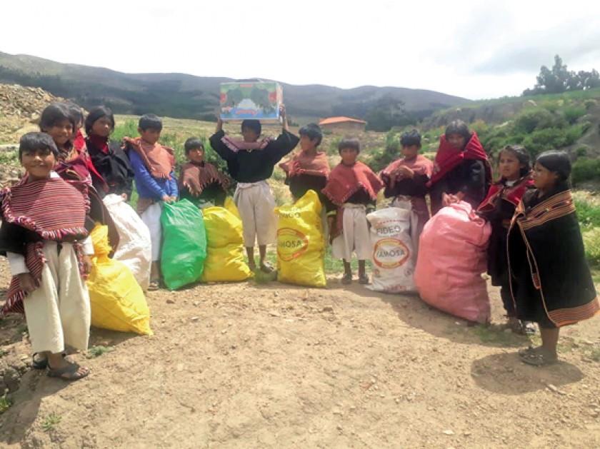 MEDIOAMBIENTE. La unidad educativa Pisili de Tarabuco fue una de las primeras en unirse al reto