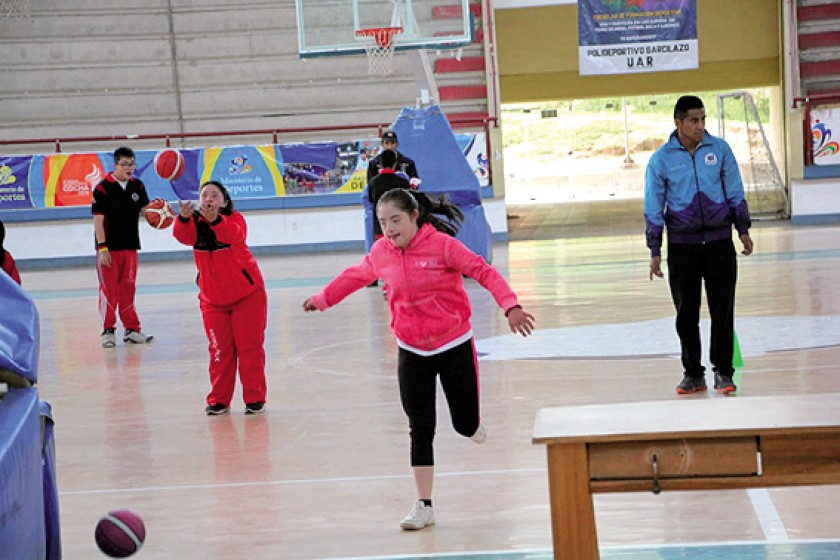 La actividad en el Polideportivo.