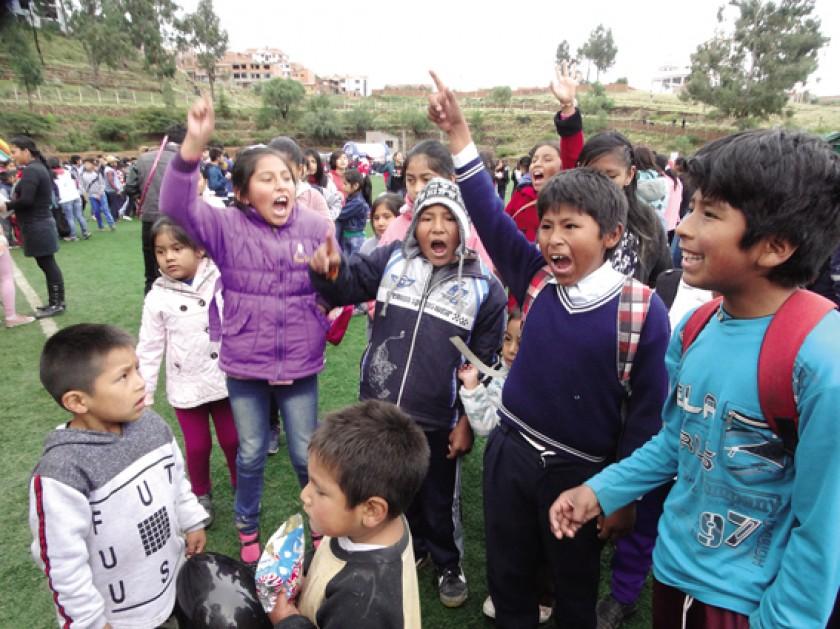 La alegría de la niñez boliviana