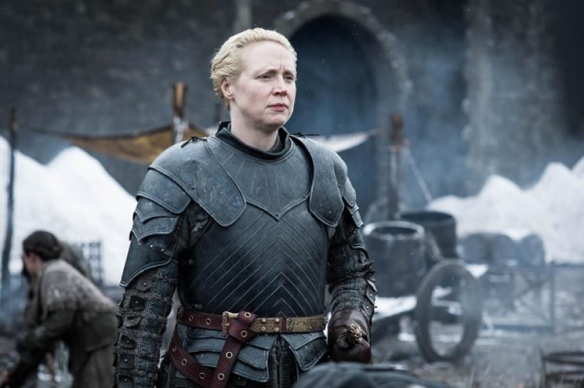 Brienne de Tarth, el personaje a quien da vida la actriz británica Gwendoline Christie.