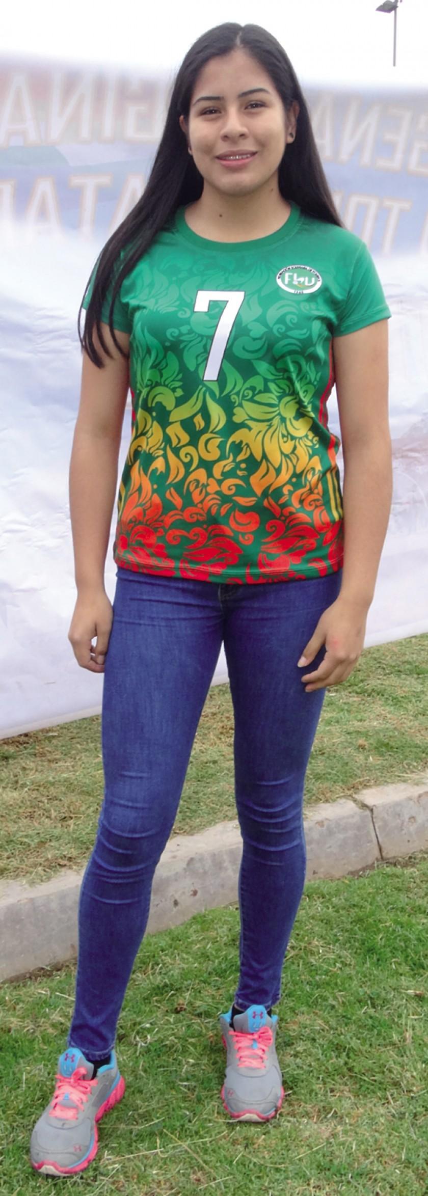 La voleibolista Michelle Lora. Foto: CORREO DEL SUR