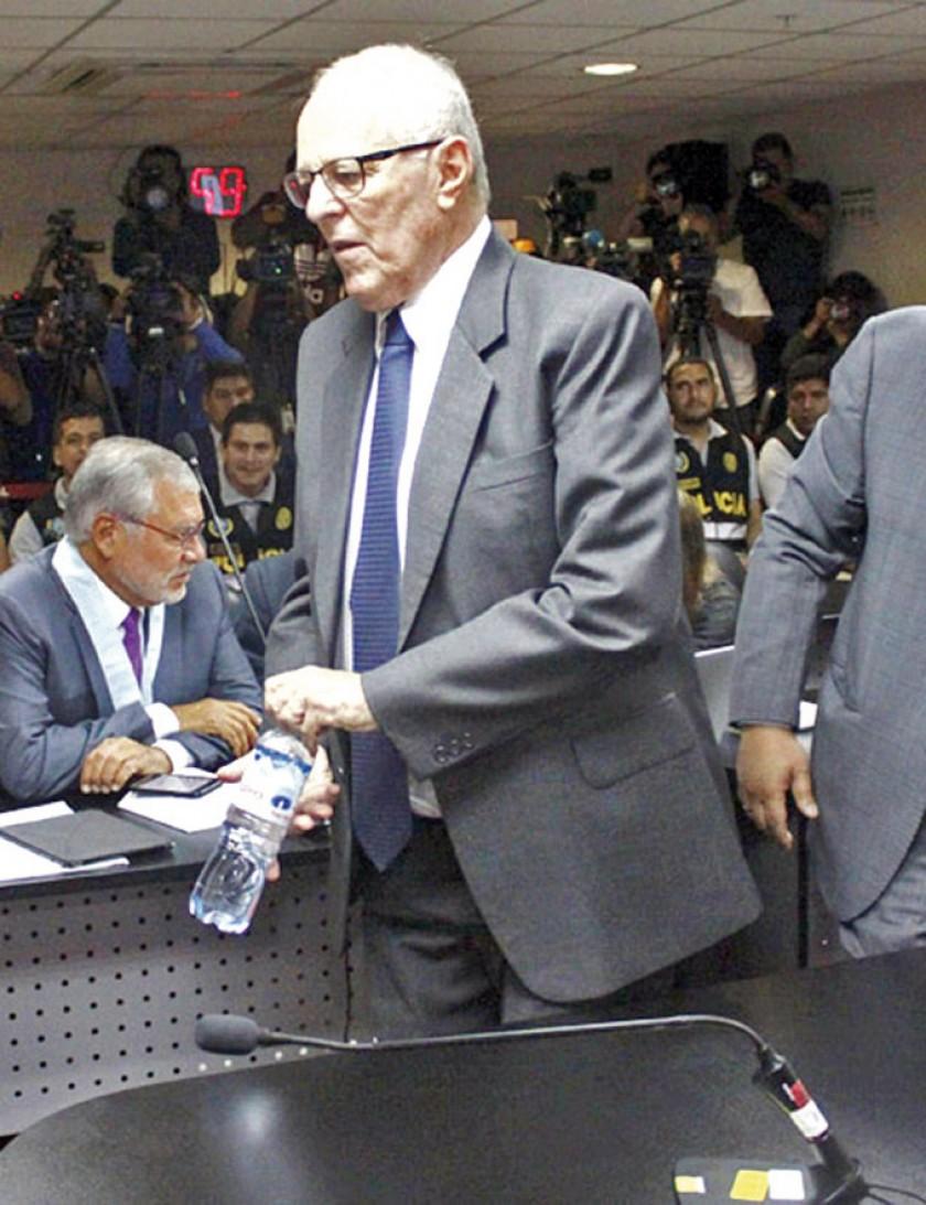 JUICIO. Pedro Pablo Kuczynski durante una de sus últimas audiencias antes de ser internado por problemas de presión