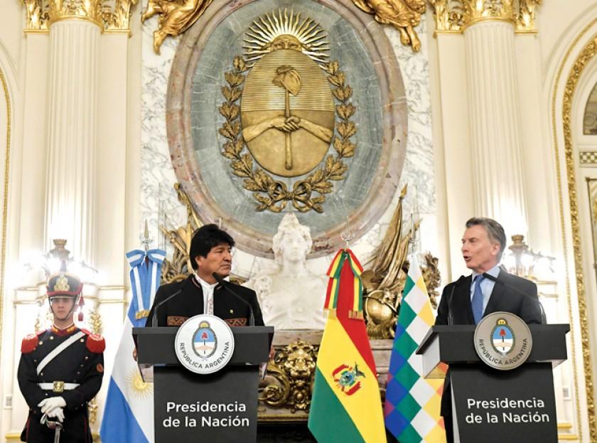 CONFERENCIA. Los presidentes de Bolivia y Argentina informan sobre los acuerdos alcanzados en el encuentro bilateral.