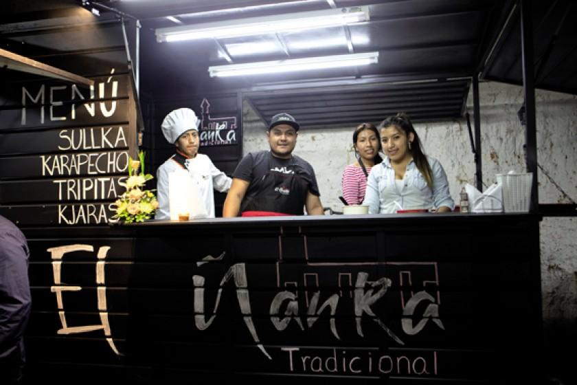 """Comida tradicional sucrense con """"El Ñanka""""."""