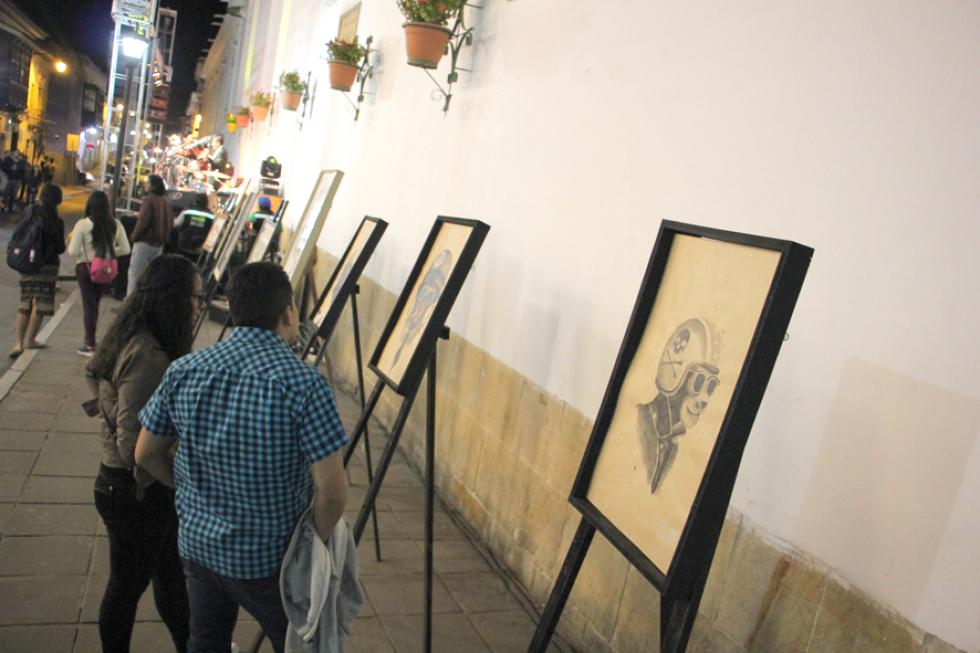 PRESENTACIÓN. Elencos circenses, grupos de música, exposición pictórica y baile deleitaron  al público.