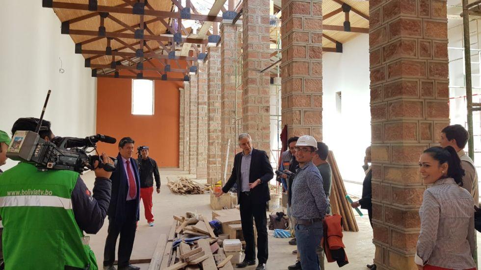 La inspección al Centro Cultural La Sombrerería.