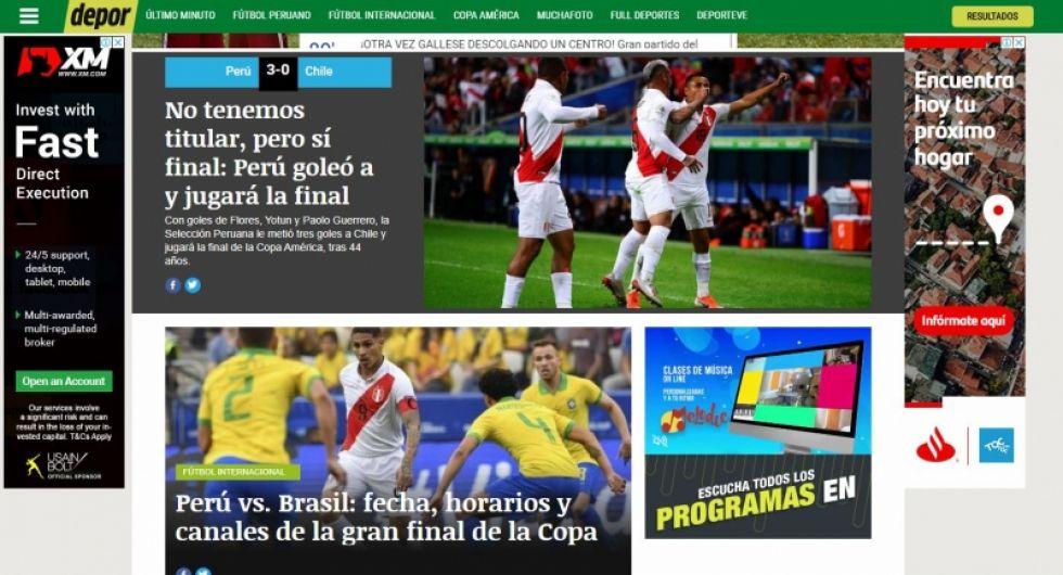 Portal Depor.com de Perú