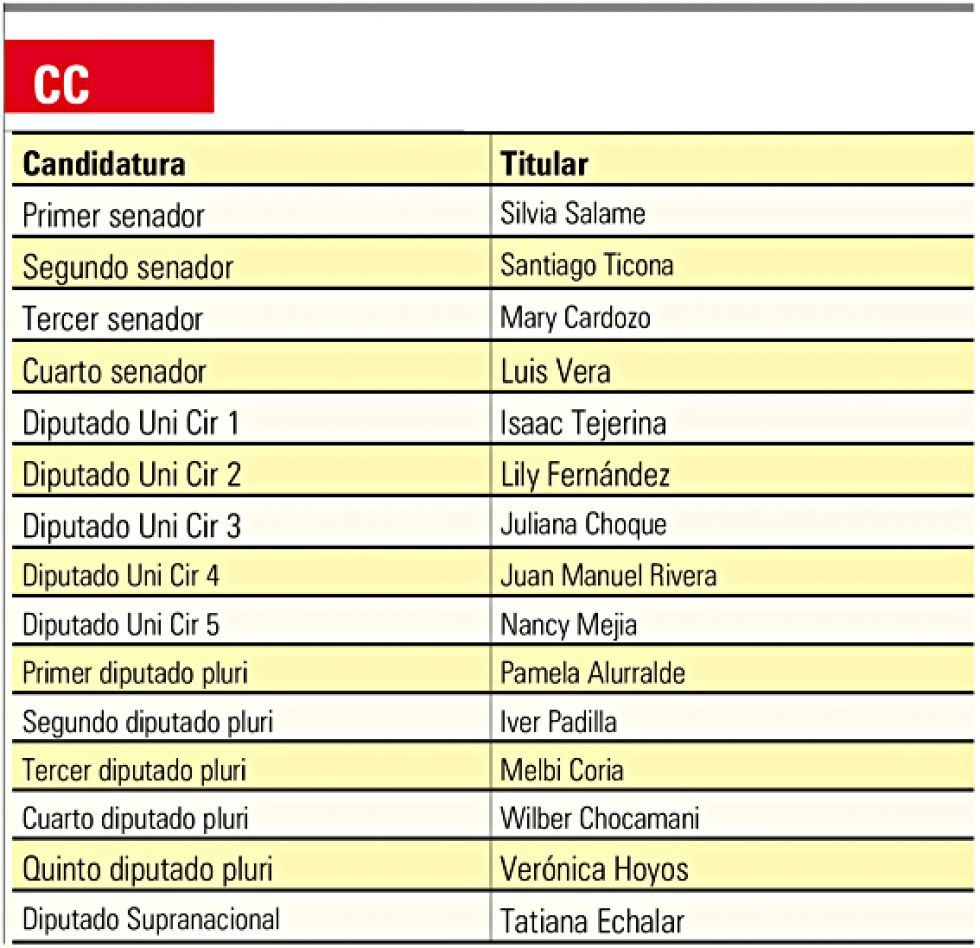 Los candidatos son líderes vecinales, universitarios y exautoridades