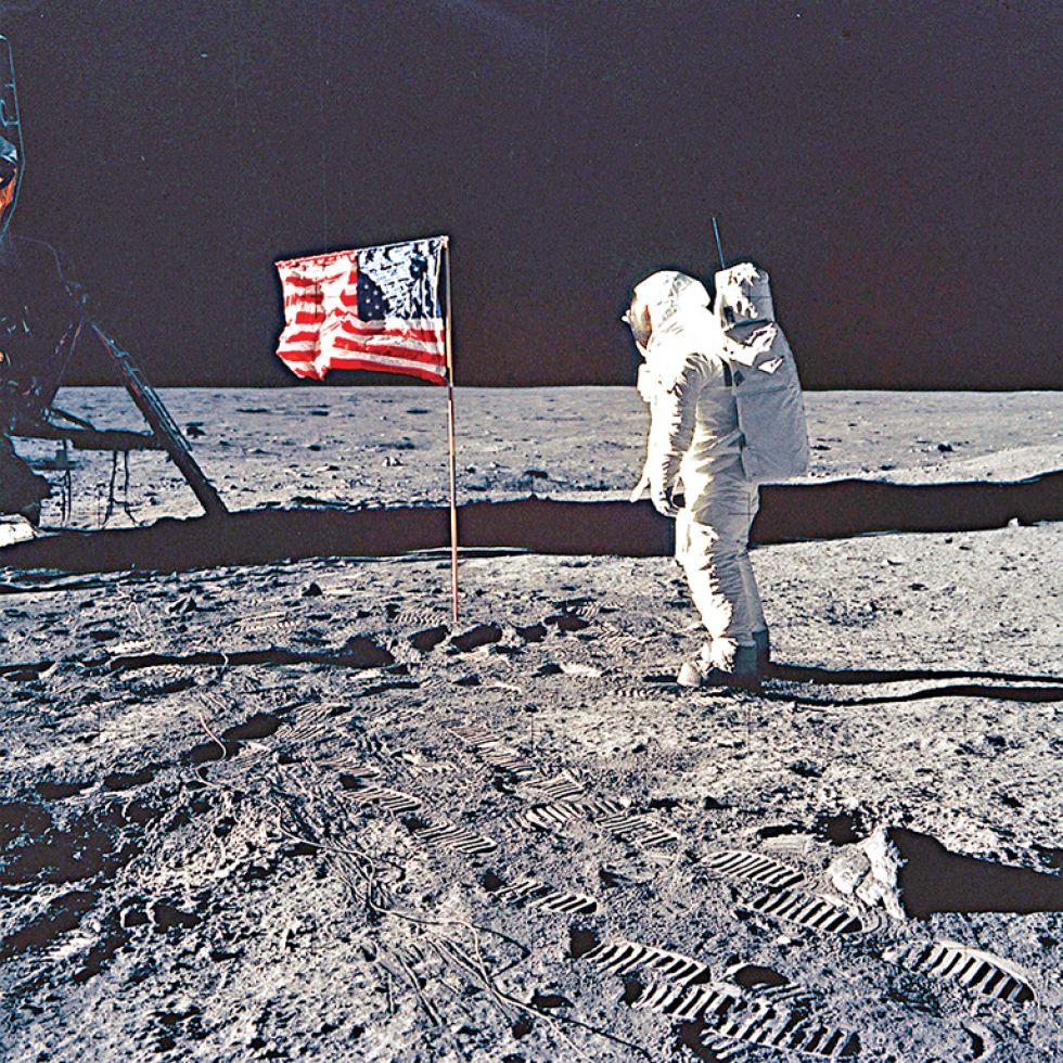 El astronauta Buzz Aldrin en una imagen del 20 de julio de 1969 cedida por la NASA