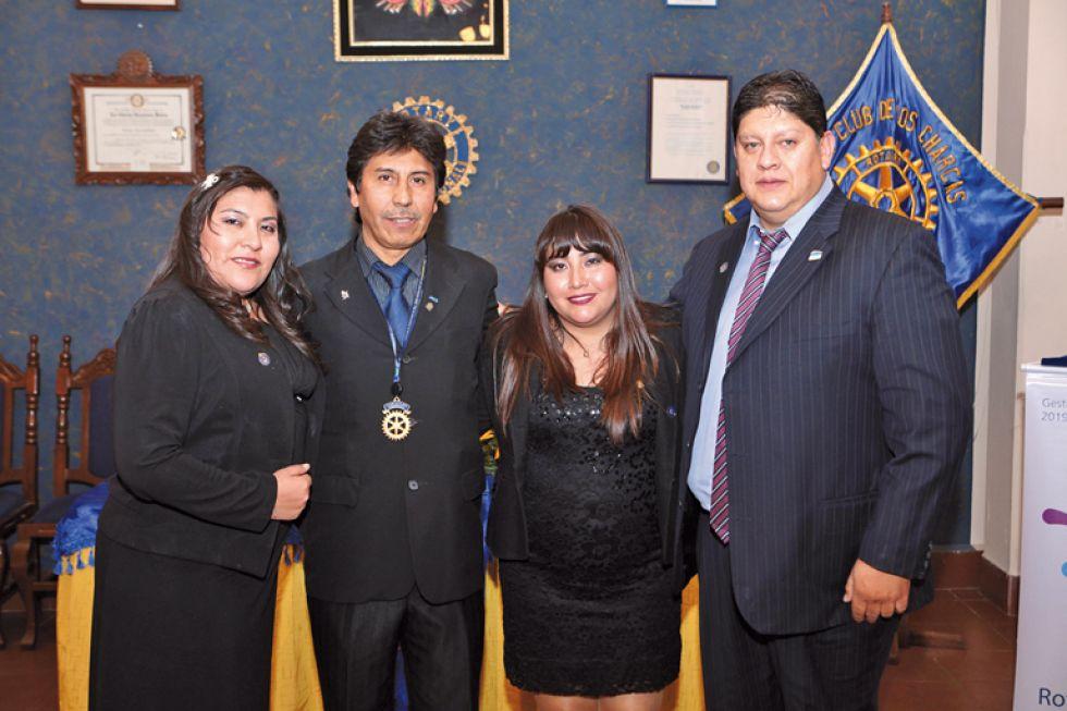 Mauren Torricos, Gustavo Argandoña, Daniela Lía y Marco Navarro.