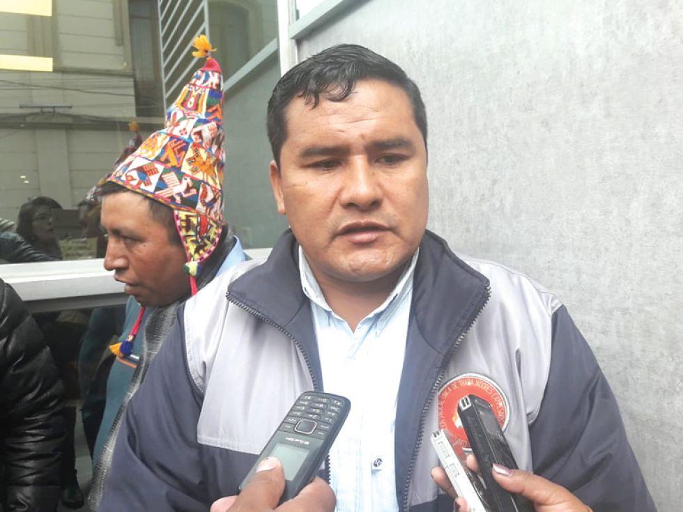 LA PAZ. Jacinto Herrera, máximo dirigente de la Confederación de Campesinos de Bolivia.
