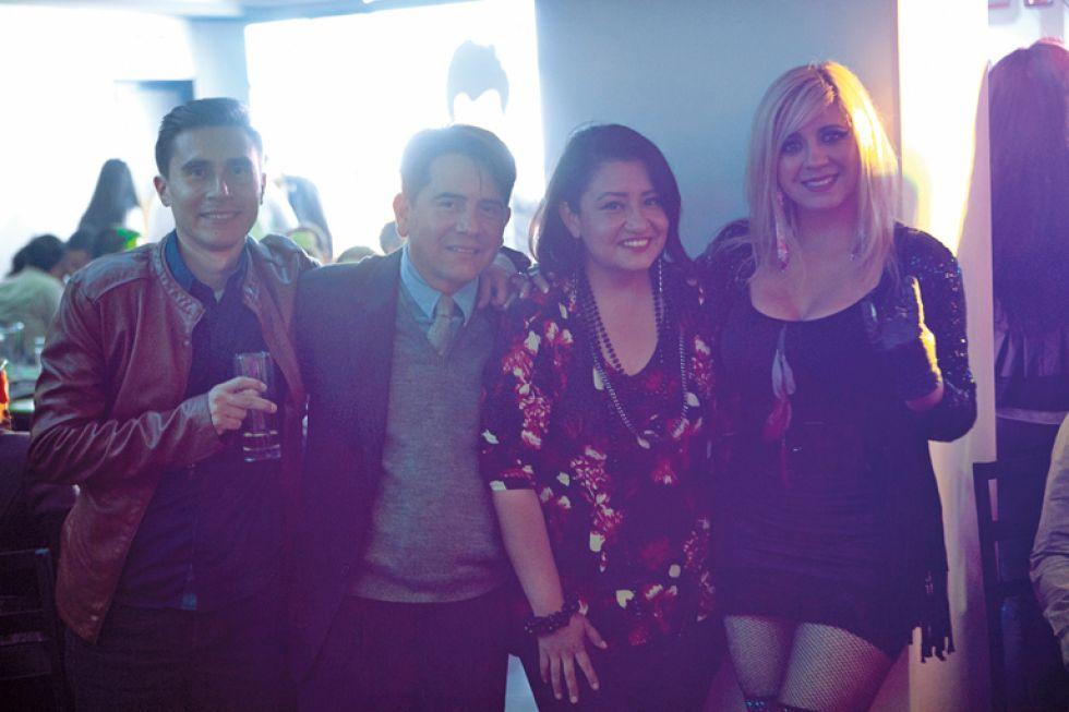 Carlos Durán, Juan Pablo Chavarría, Paola Barriga  y Helen Fuentes.