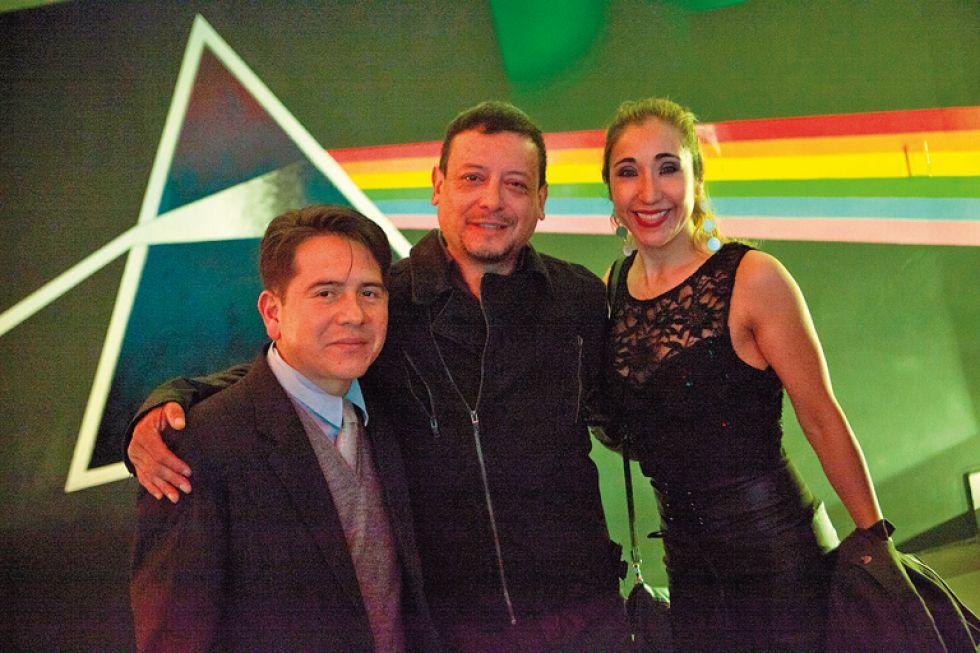 Juan Pablo Chavarría, Marco Barriga  y Paola Sánchez
