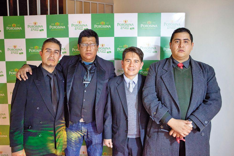 Edwin Oroza, Carlos Olañeta,  Juan Pablo Chavarría y Beymar Miranda.