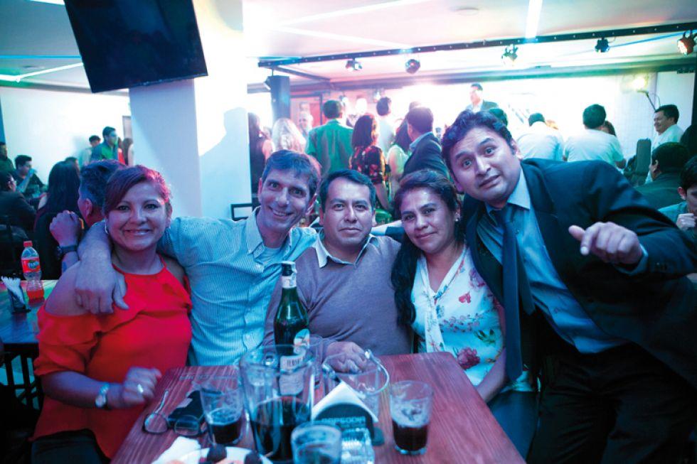 Patricia Lucero, Gaspare Rivela, Roberto Salazar,  Gyobana Sánchez y Cristián Díaz.