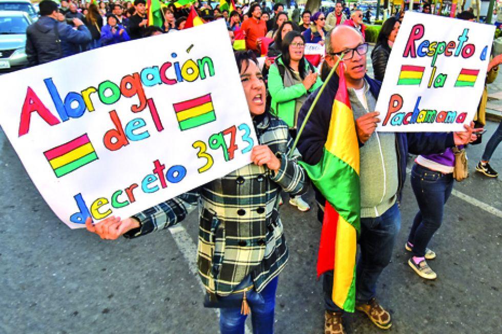 MOVILIZACIÓN. La tragedia en la Chiquitanía movilizó a cientos de personas en algunas ciudades del país.