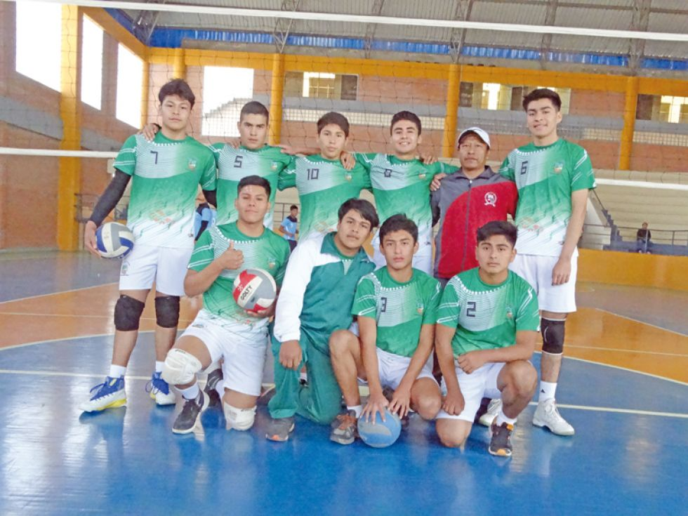 La seleccione de voleibol varones CMDT. Hugo Chávez
