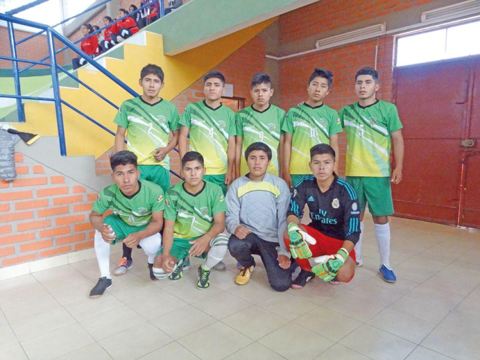 La selección de fútbol de salón varones.
