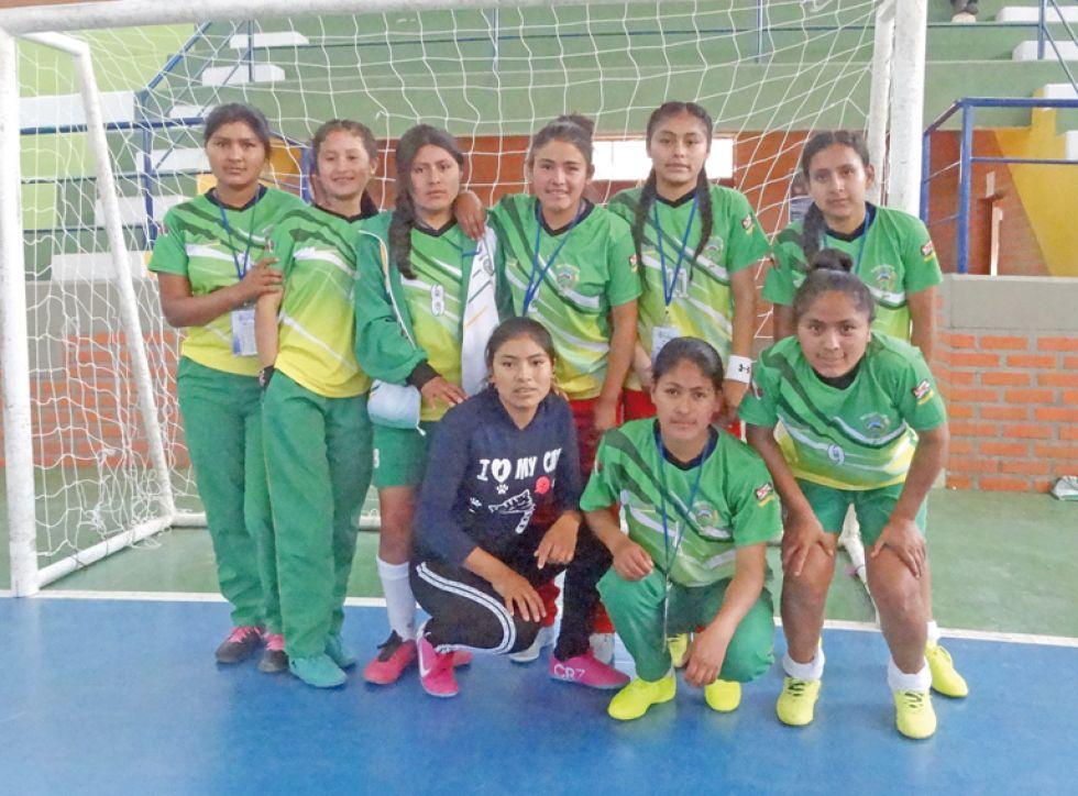 La selección de fútbol de salón damas.