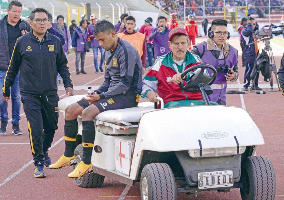 El chuquisaqueño Saúl Torres lesionado