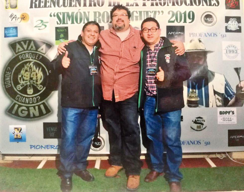 """Organizadores: Rubén """"Toño"""" Delgado, Carlos Rojas y José Antonio Ortega."""