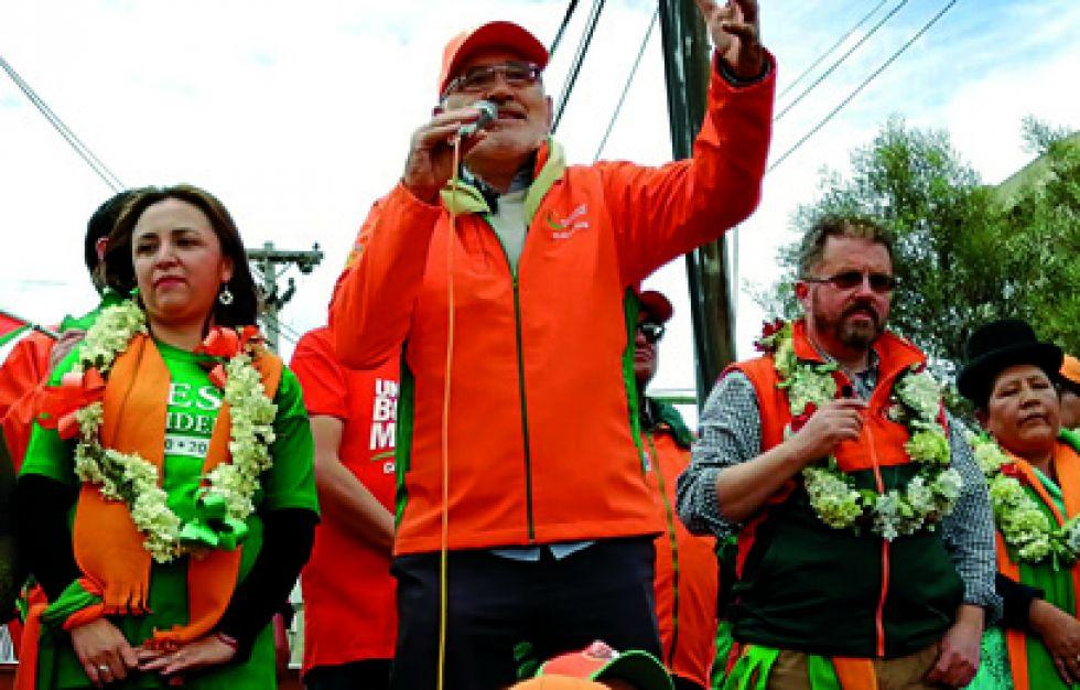 CAMPAÑAS. El candidato de Comunidad Ciudadana (CC) Carlos Mesa