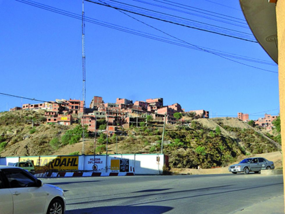 BARRIO. Vista de una parte del barrio Qhatalla Baja, zona Villa Margarita.