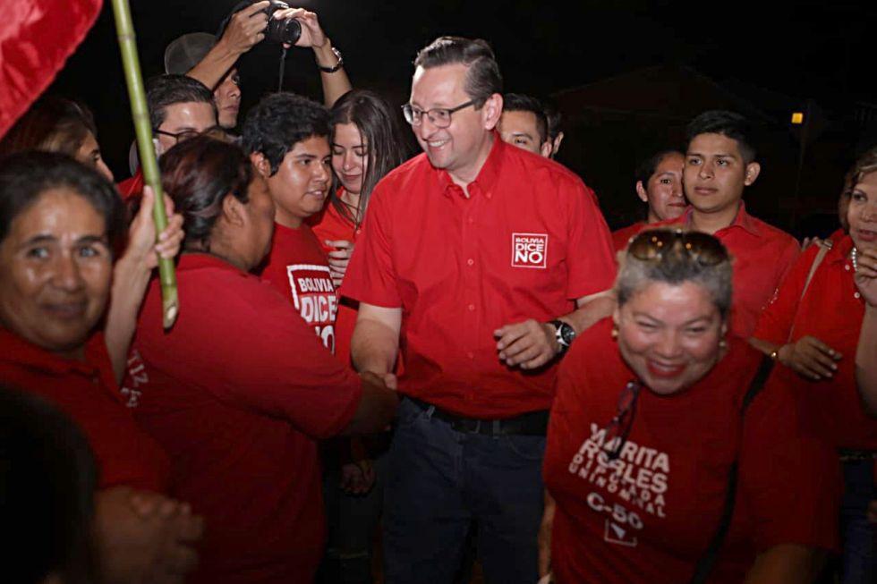 CAMPAÑAS. El candidato de Bolivia Dice No Óscar Ortiz.