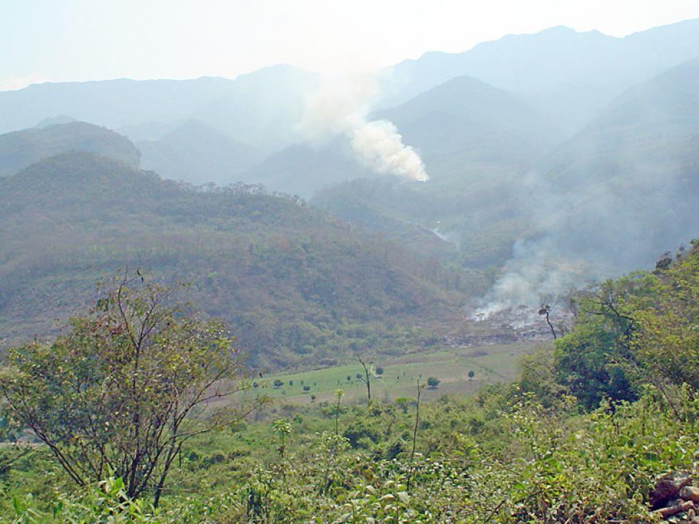 INCENDIO. La Serranía del Iñao ya fue afectada por el fuego hace algunos años.