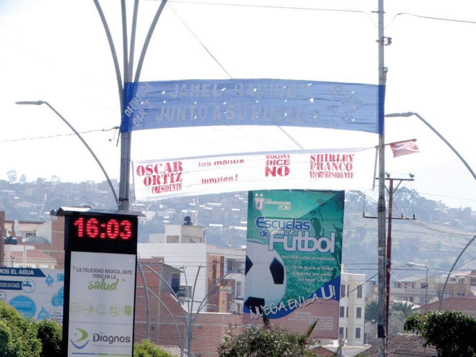 PASACALLES. Así se encuentra parte de la avenida Germán Mendoza.