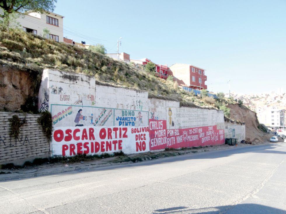 MURAL. Uno de los muros de la zona de Bajo Delicias