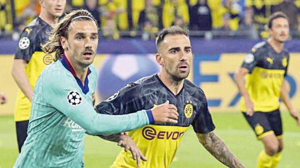 El Dortmund y el Barcelona igualaron en Alemania
