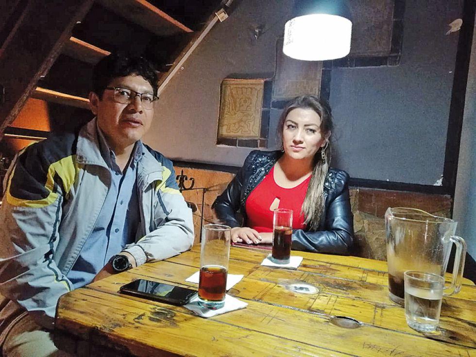 Gastón Cortez y Luz Orellana.