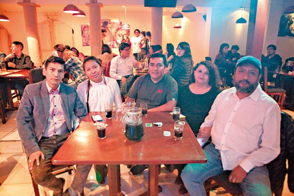 Víctor, Alina, Jhonny, Minerva y Sergio.