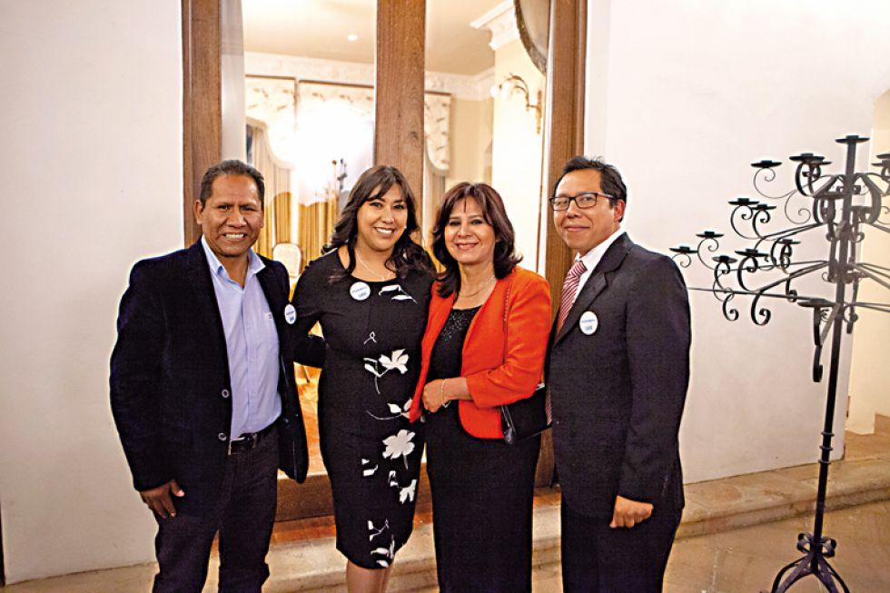 Rubén Huanca, Ivana Escalante, Irene Díaz y Ervin Aldunate.