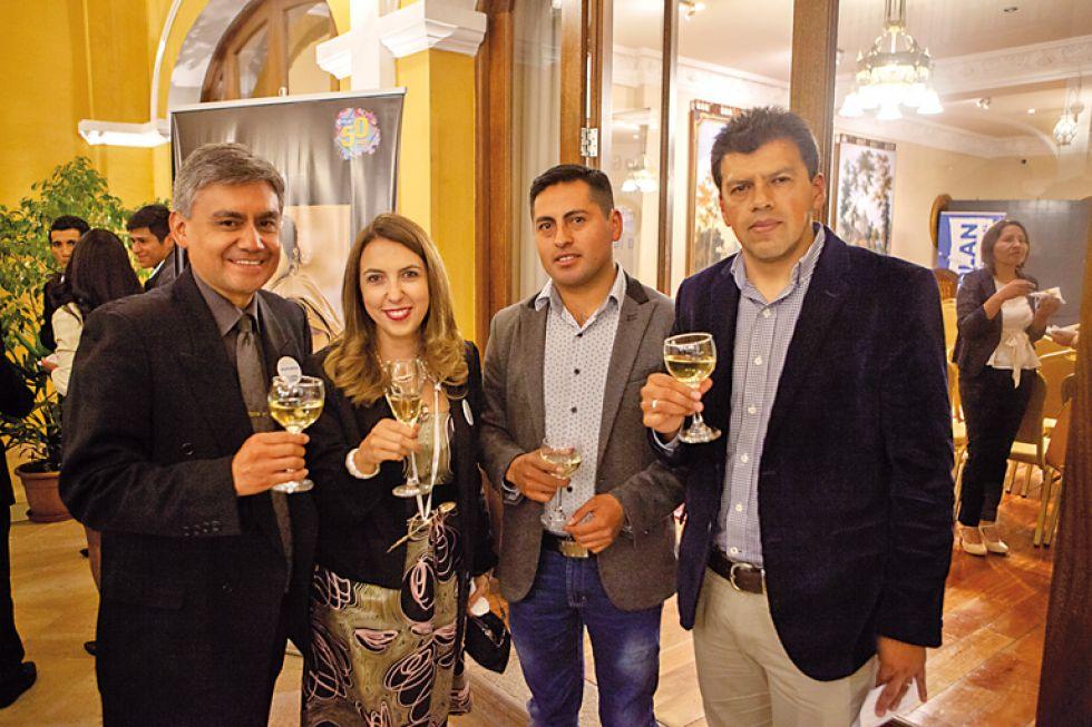 José Luis Bellido, Chantale Beolchi, David Durán y Enzo Pórcel.
