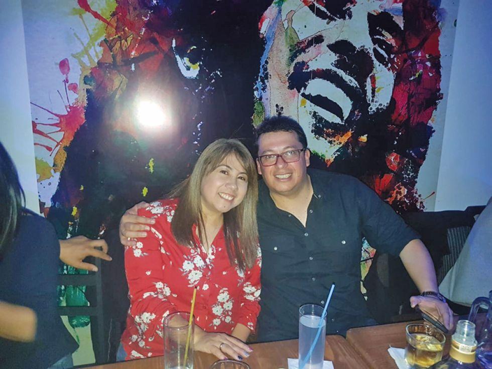 Eliana Yáñez y Milton Marquiegui.