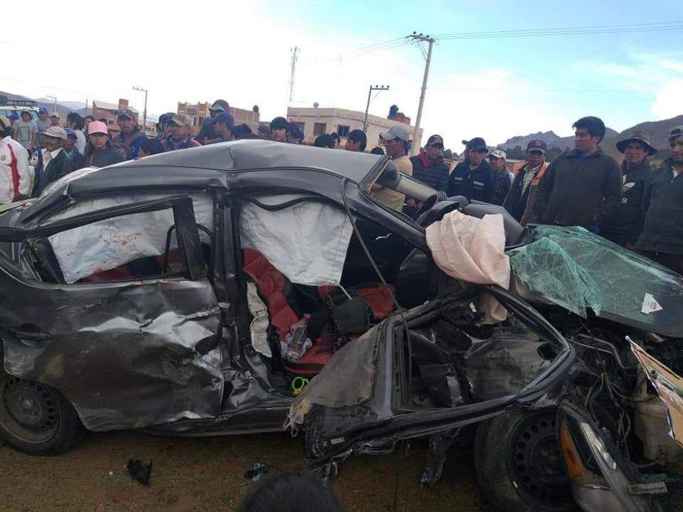 El accidente ocurrido esta tarde en la ruta Sucre-Potosí.