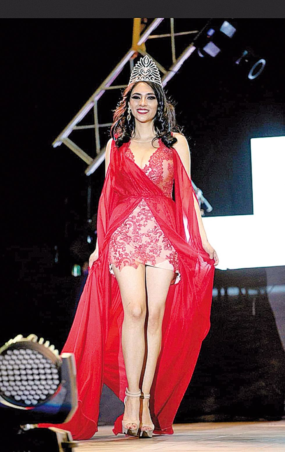 Paola Flores,  Miss Fexpo Sucre Internacional.