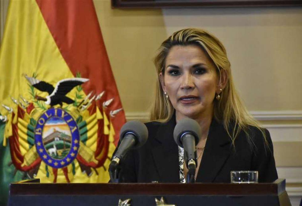La presidenta Jeanine Áñez.
