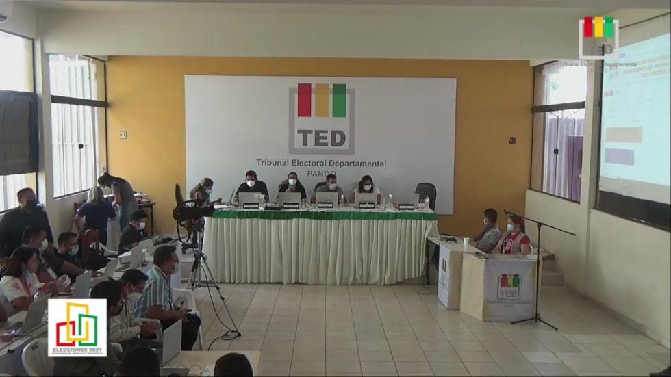 Pando: TED reprograma votación en dos mesas y se posterga finalización del cómputo