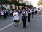 La entrada folclórica de la Virgen de Guadalupe.