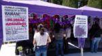 Recuerdan a las almas de las víctimas de feminicidio con una mesa en el Cementerio General de Sucre.