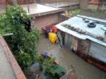 Una vivienda inundada en el barrio San Luis.