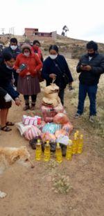 La entrega de víveres realizada por la campaña