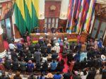 La Asamblea Legislativa Plurinacional, antes de invitar a la sesión al Vicepresidente y Presidente electos.
