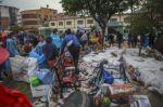 Así quedaron las inmediaciones de la plazuela San Juanillo, la zona más afectada por la granizada.