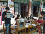 Así vota Chuquisaca para elegir gobernador en segunda vuelta. El recinto electoral en el kínder San Vicente de Paul.